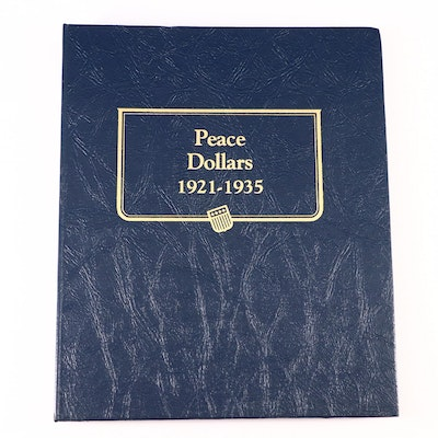 Whitman Binder of Silver Peace Dollars Including Key Dates, 1921–1935