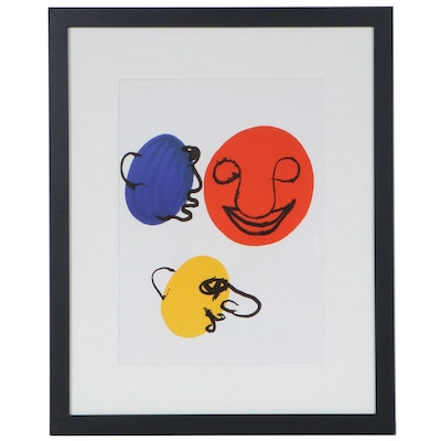 "Alexander Calder Color Lithograph for ""Derrière le Miroir,"" 1976"