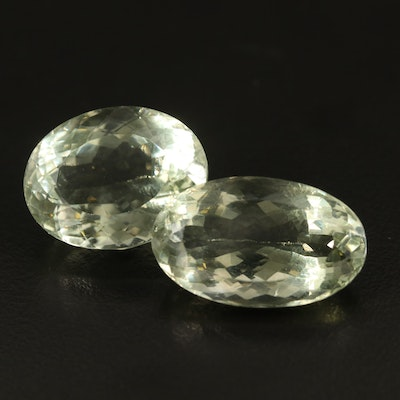 Loose 36.76 CTW Oval Faceted Prasiolite