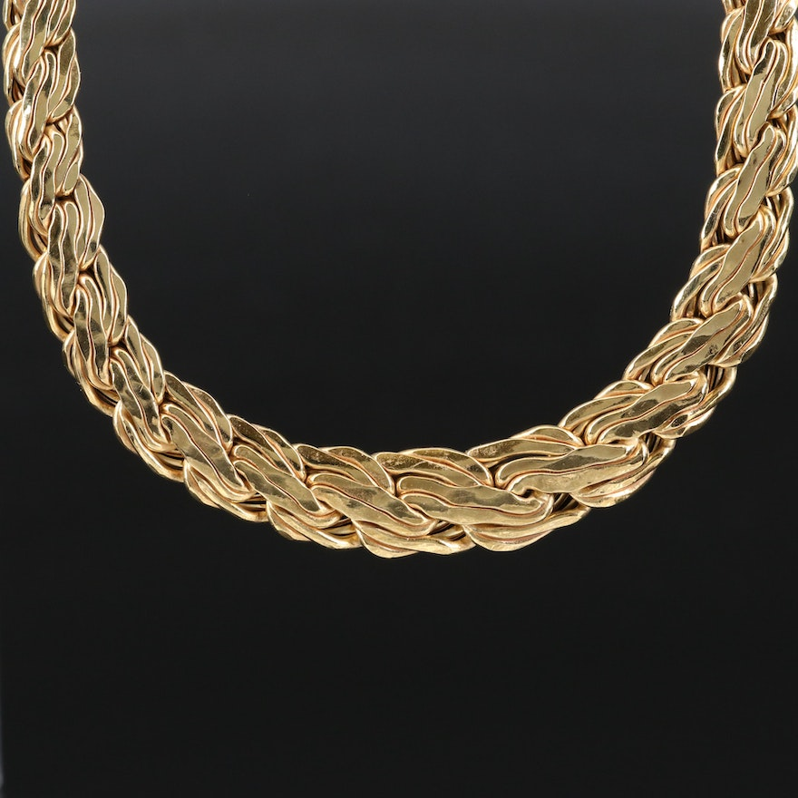 14K Graduated Chain Necklace