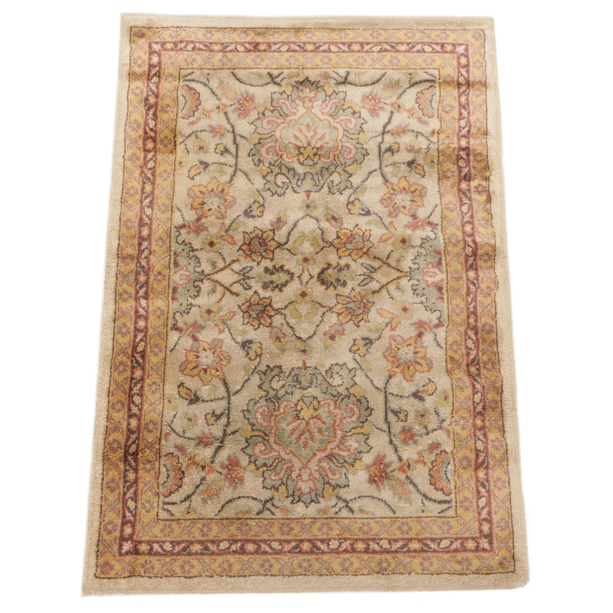 1'11 x 2'11 Machine-Loomed Indo-Persian Floral Accent Rug