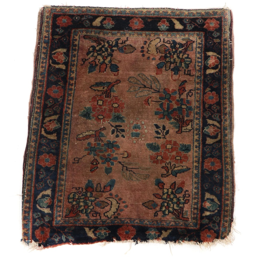 1'11 x 2'4 Hand-Knotted Caucasian Floral Wool Accent Rug