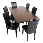 """Arhaus """"Rho"""" Flip Top Dining Table and Chairs, 21st Century"""