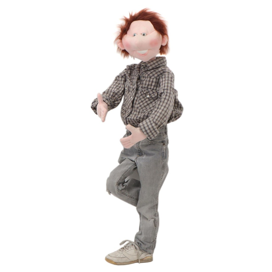 Life Sized Soft Sculpture of Young Boy, Late 20th Century