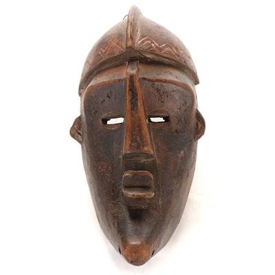 Lwalwa Carved Wood Mask, Central Africa