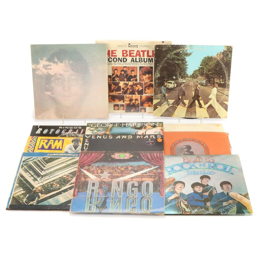 The Beatles, Ringo Starr, George Harrison and Wings Vinyl Records