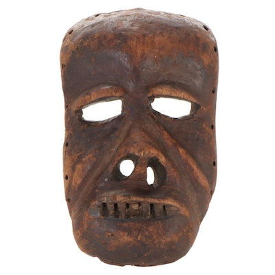 Ibibio Inspired Carved Wood Mask, Niger River Delta