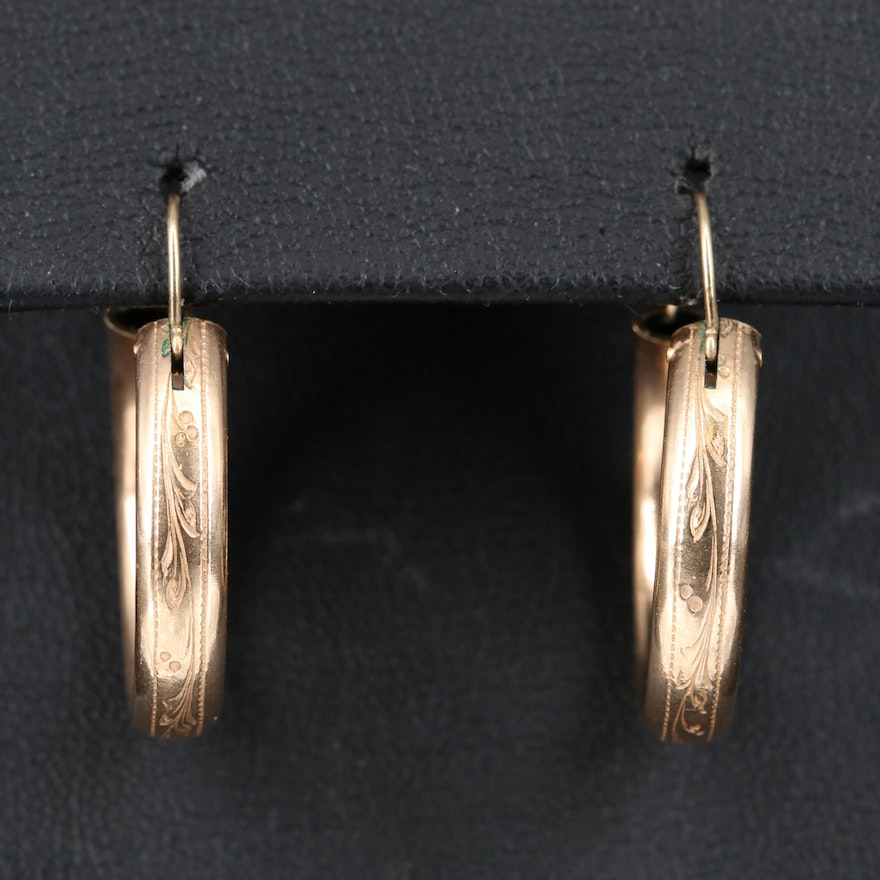 Hoop Earrings with 14K Ear Wires