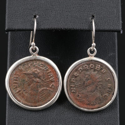 Ancient Roman Imperial Coin of Probus Earrings