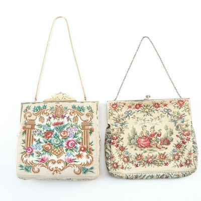 Walborg and Other Pictorial Petit Point Frame Bags