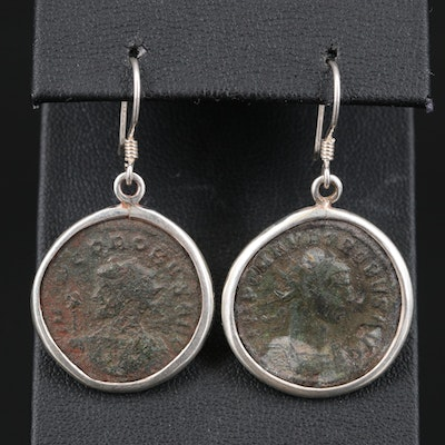 Ancient Roman Imperial AE Antoninianus Coins of Probus Earrings