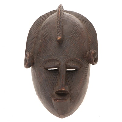 Bamana Style Carved Wood Mask, Mali