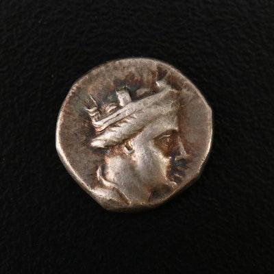 Pontos, Amisos AR Hemidrachm Coin Under Demetrios, ca. 300 B.C.