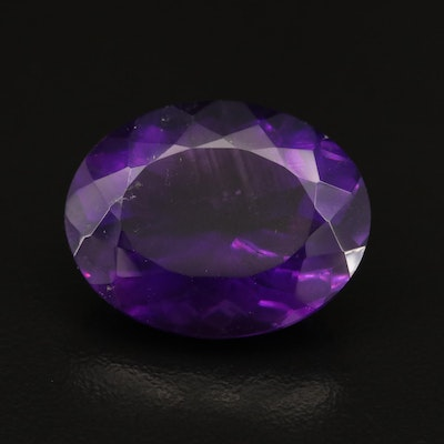 Loose 27.85 CT Oval Faceted Amethyst