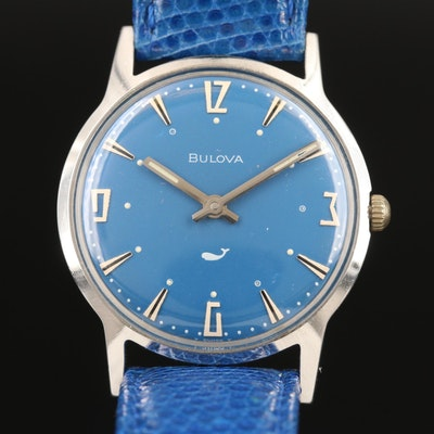 "1970 Bulova ""Sea King"" Stainless Steel Stem Wind Wristwatch"