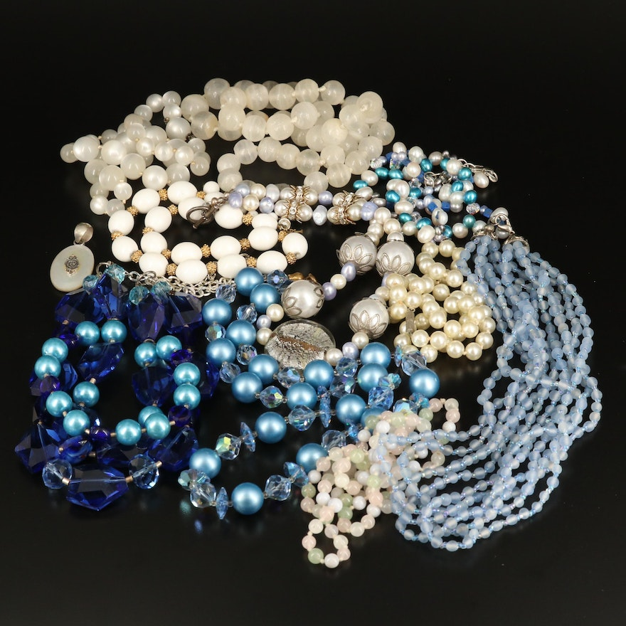 Beaded Necklaces Including Sterling