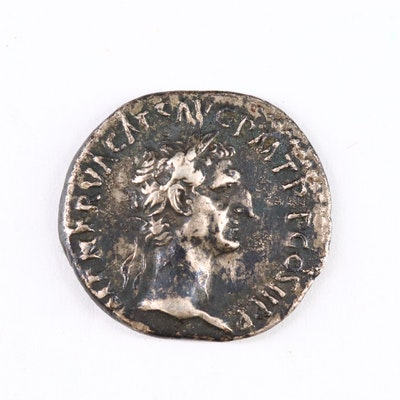 Ancient Roman Imperial AR Denarius of Nerva, ca. 96 A.D.