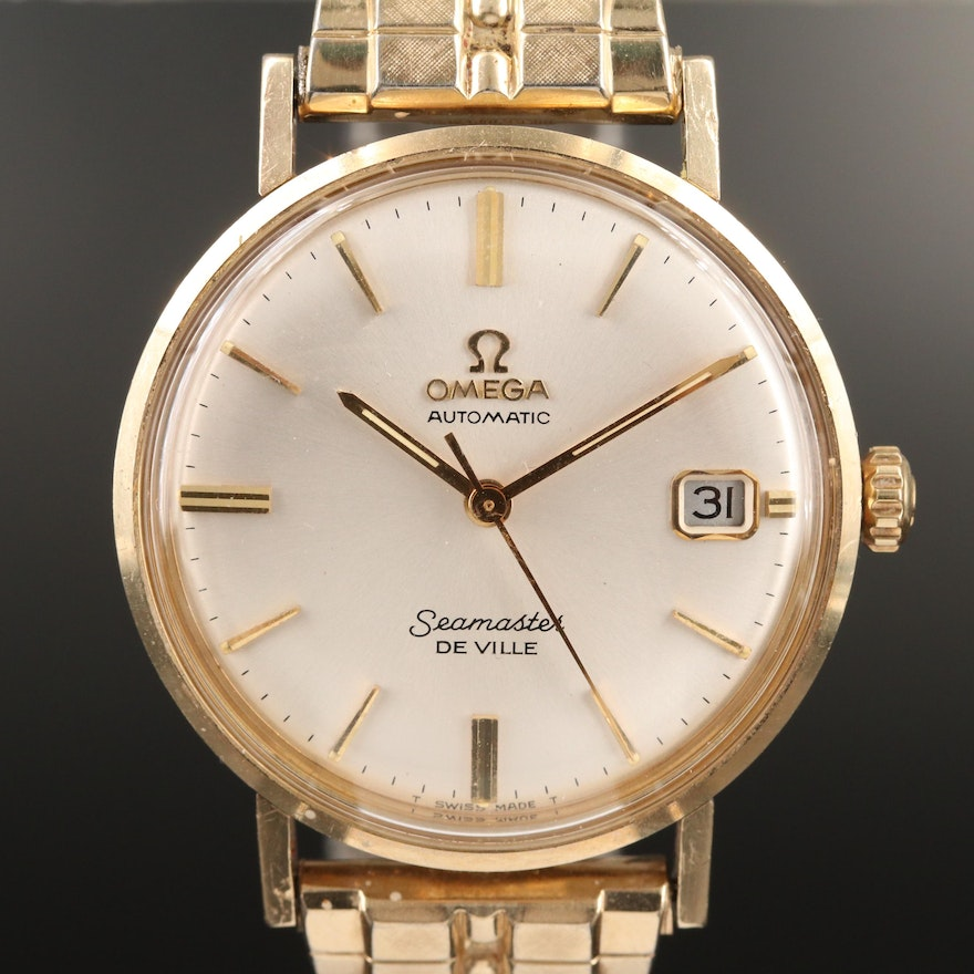 1969 Omega Seamaster DeVille 14K Gold Filled and Stainless Steel Wristwatch