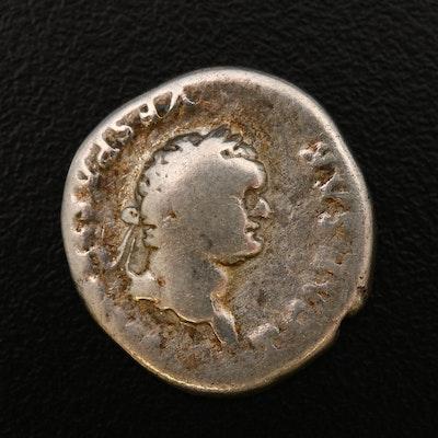 Ancient Roman Imperial AR Denarius of Vespasian, ca. 69 A.D.