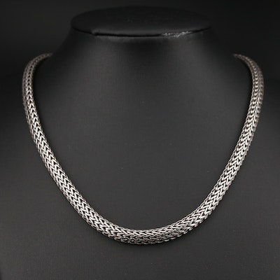 John Hardy Sterling Silver Wheat Chain Necklace