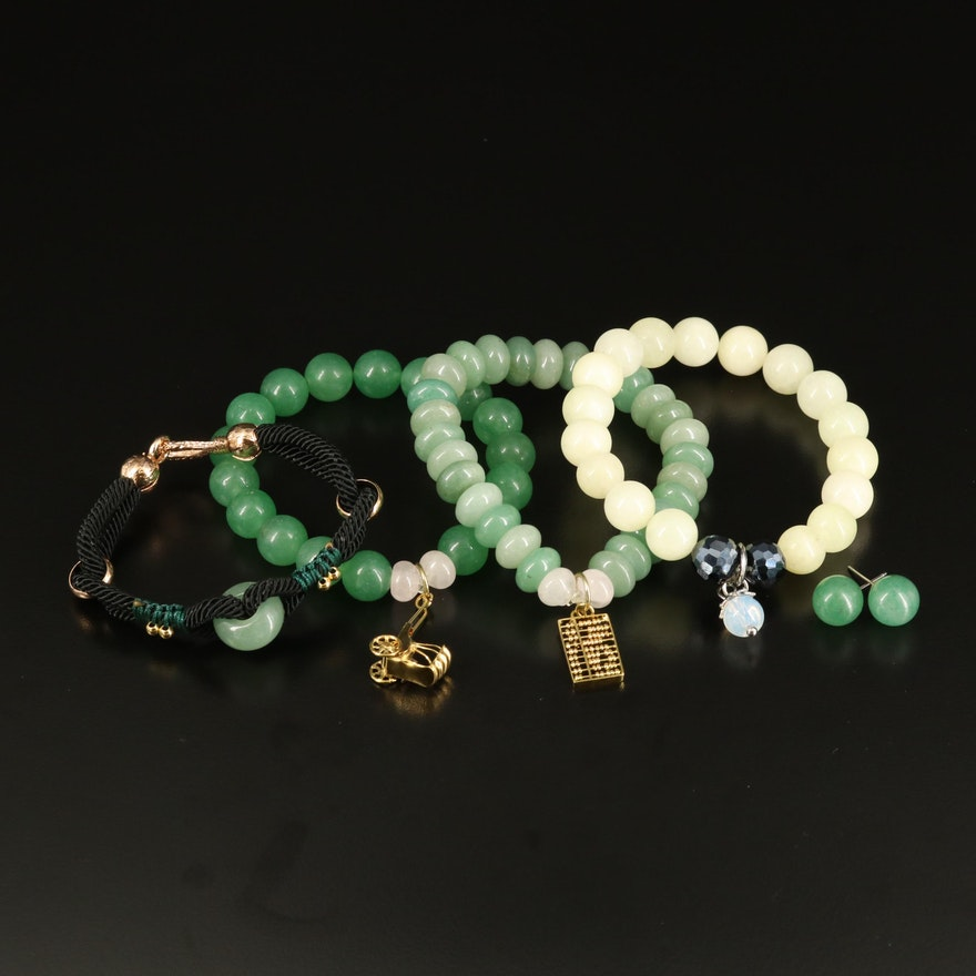 Aventurine, Quartz and Glass Jewelry Selection