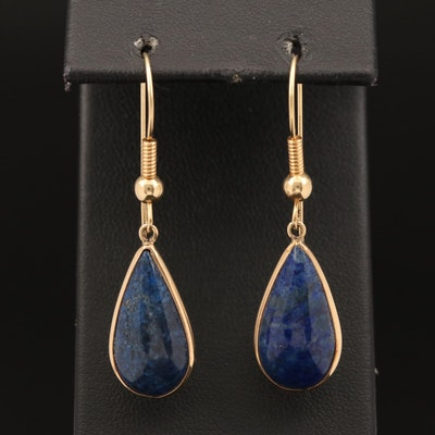 14K Lapis Lazuli Dangle Earrings