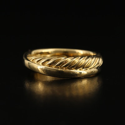 David Yurman 18K Crossover Ring