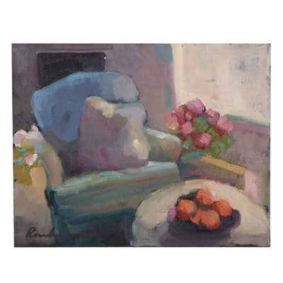 Sally Rosenbaum Still Life Oil Painting, 21st Century