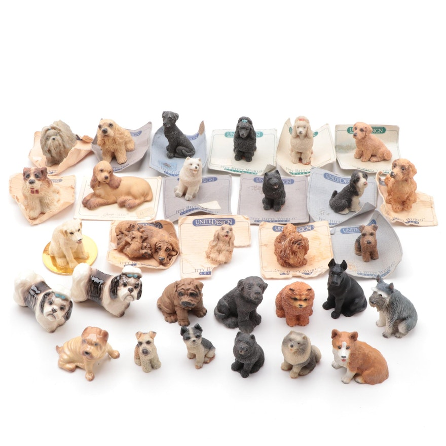 United Design Itty Bitty World and Other Miniature Dog Figurines