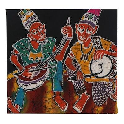 """Lekan O. Batik Textile """"Entertaining Mood,"""" 2003"""