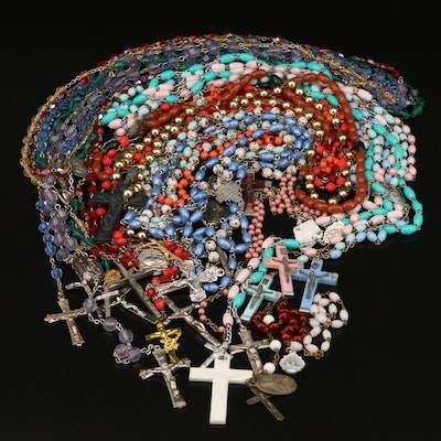 Colorful Rosary Assortment