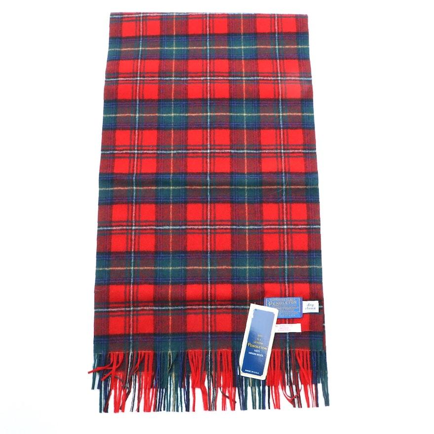 Pendleton Boyd Tartan Plaid Wool Scarf with Box