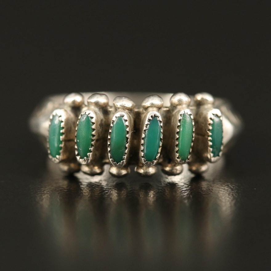 Vintage Southwestern Sterling Faux Turquoise Ring