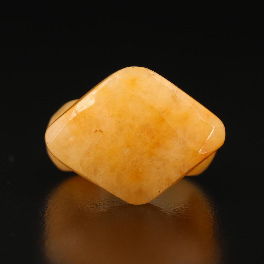 Carved Quartz Ring