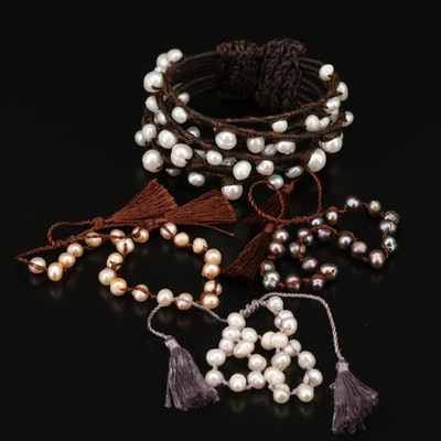 Pearl Bracelets Featuring Organic Designs