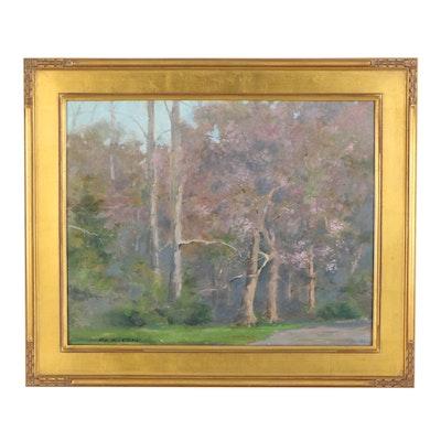Robert Waltsak Landscape Oil Painting, Late 20th/21st Century
