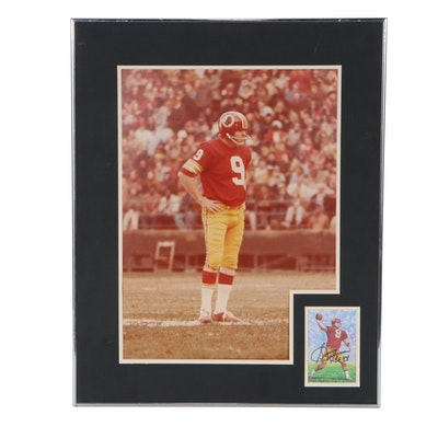 Sonny Jurgensen Autographed Illustration and Photograph