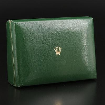 Vintage Rolex Green Leather Watch Case