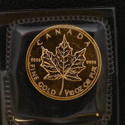 1998 Canada $5 1/10 Oz. Gold Maple Leaf Bullion Coin