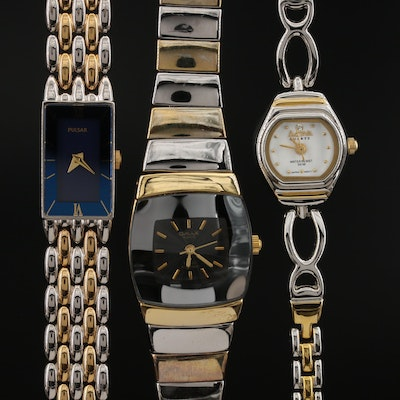 Quartz Wristwatches with Two Tone Bracelets