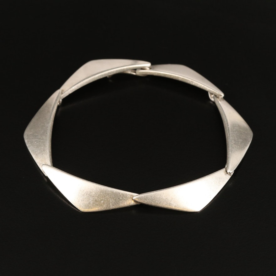 Vintage Hans Hansen Danish Modernist Sterling Silver Bracelet