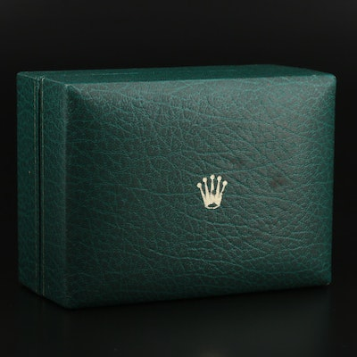 Vintage Rolex Green Leather Watch Case