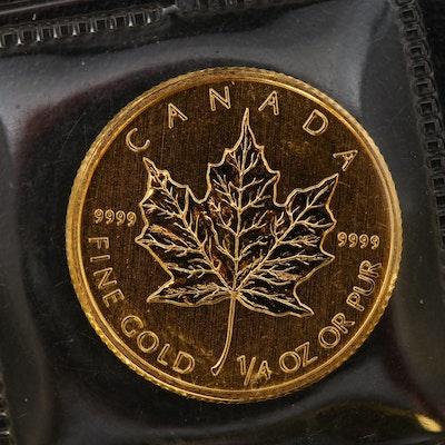 2012 Canada $10 Maple Leaf 1/4 Oz. Gold Bullion Coin