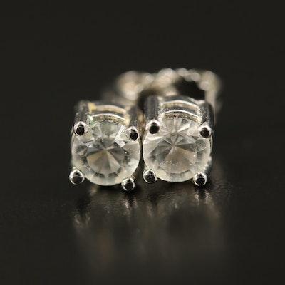 Sterling Glass Stud Earrings
