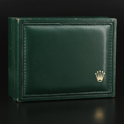 Rolex Green Leather Watch Case, Mid to Late 20th Century