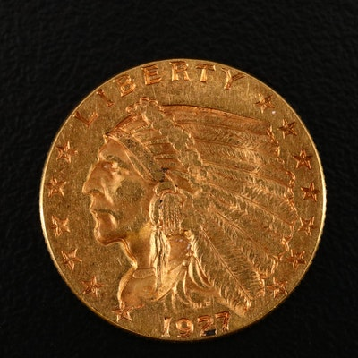 1927 Indian Head $2.50 Gold Quarter Eagle