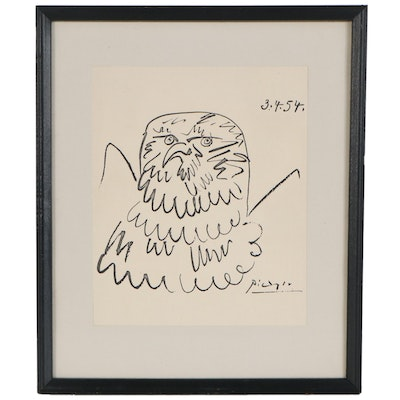 """Lithograph after Pablo Picasso """"Chouette,"""" Late 20th Century"""