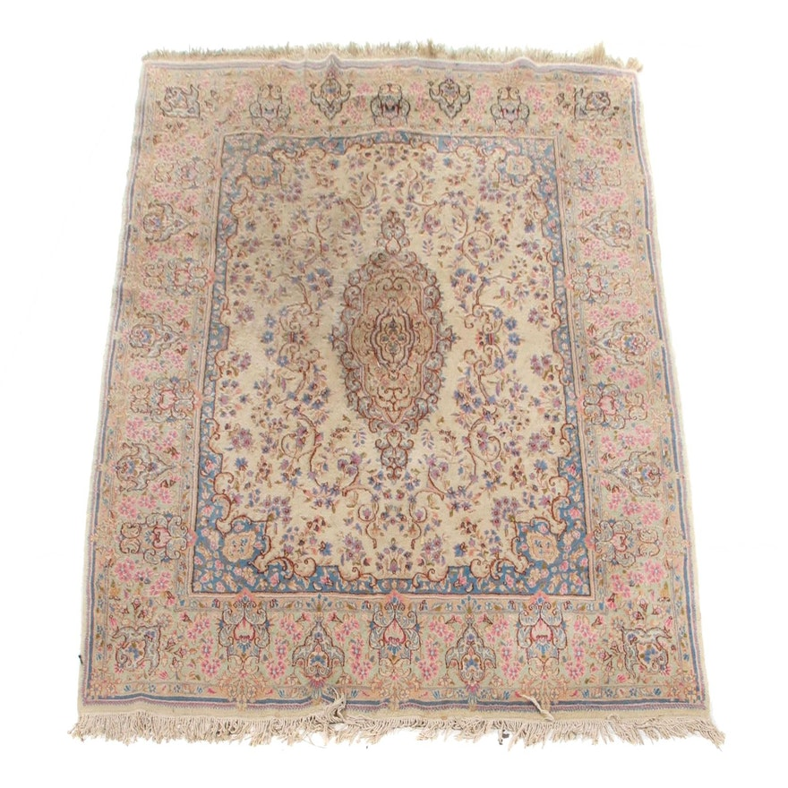 7'11 x 10'3 Hand-Knotted Persian Tabriz Wool Area Rug