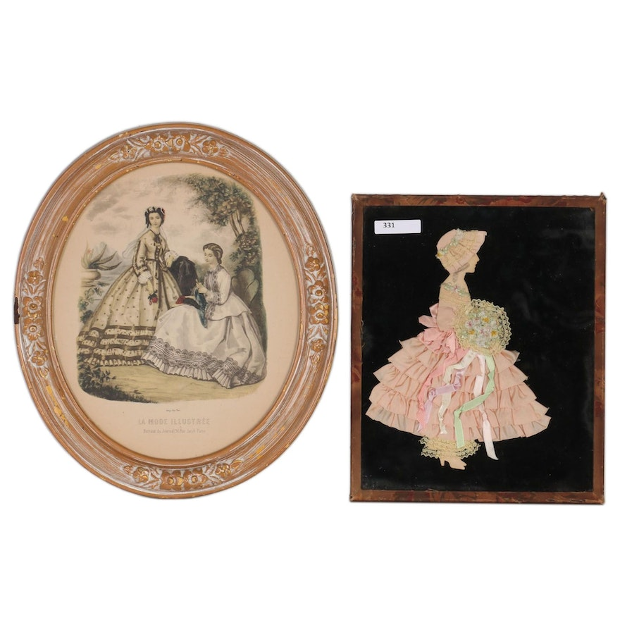 Fashion Themed Wall Decor, Early to Mid 20th Century