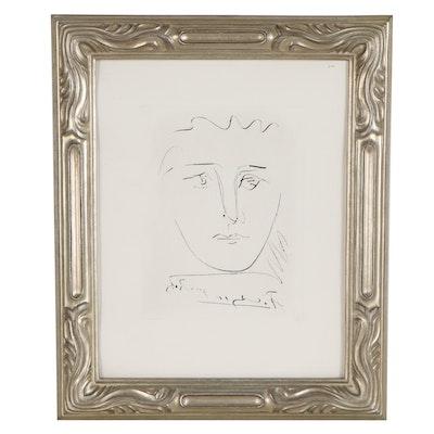 """Lithograph after Pablo Picasso """"L'Age de Soleil (Pour Roby)"""""""